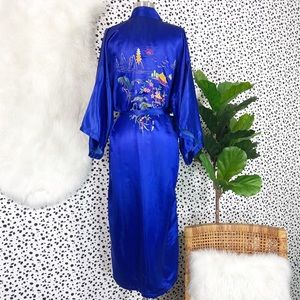 Vintage | Golden Dragon Satin Embroidered Robe PJs